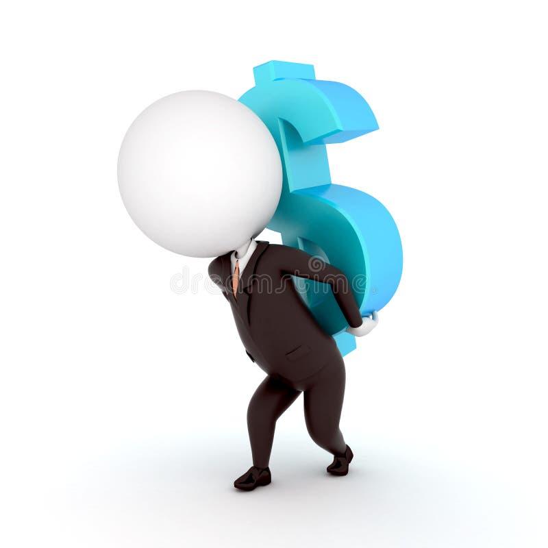 Download Dollar guy stock illustration. Image of render, business - 23710630