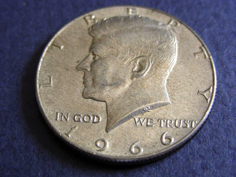 dollar half kennedy royaltyfria bilder