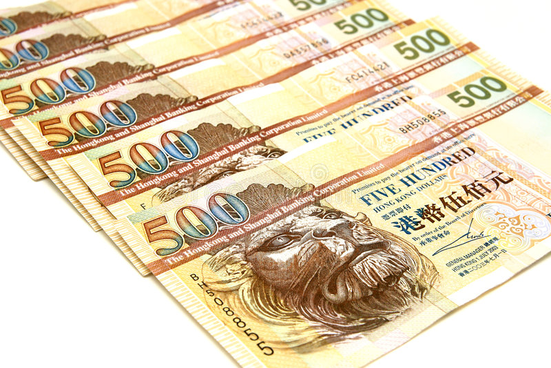 dollar Hong Kong arkivbild
