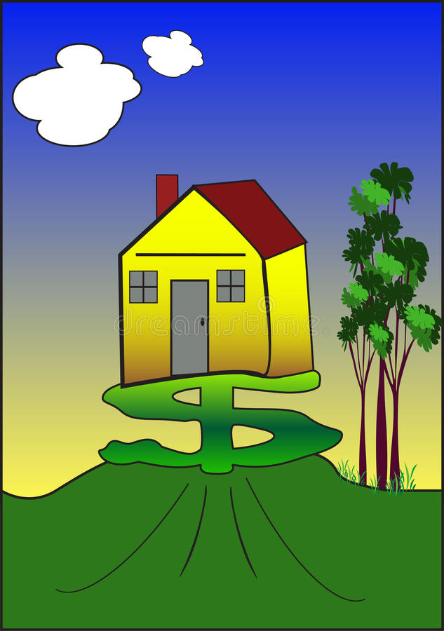 Dollar and house stock illustration