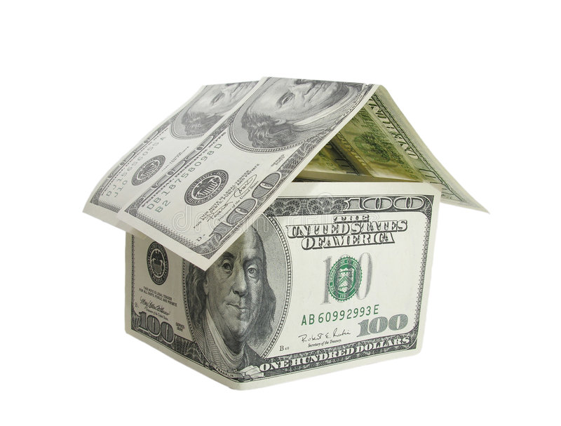 Dollar house royalty free stock images