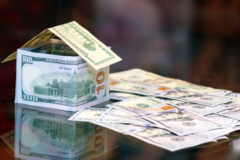 Dollar bills money house stock photo