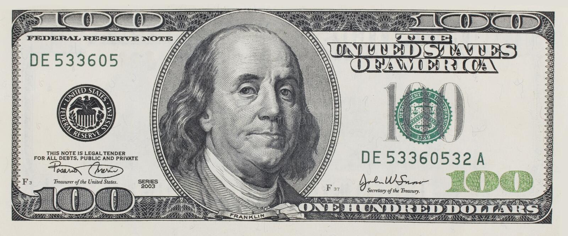 Dollar Hundra Royaltyfri Bild
