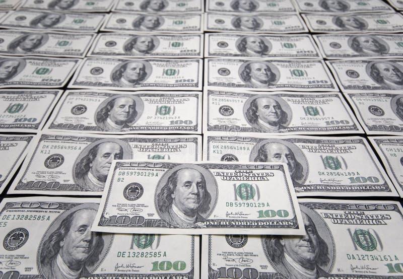 Dollar Hundra En Oss Arkivfoton