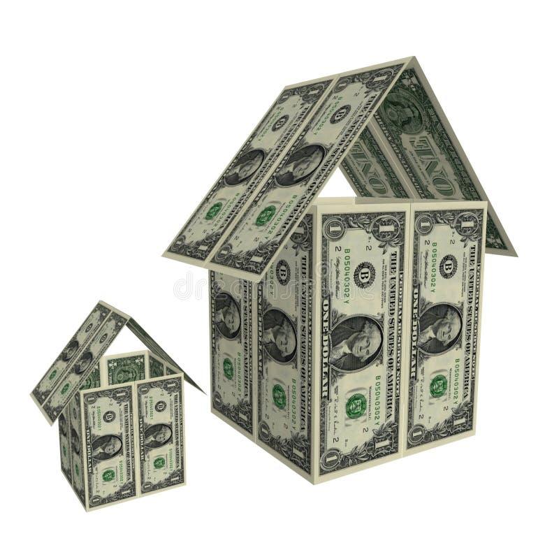 Download Dollar hus stock illustrationer. Illustration av valuta - 994560
