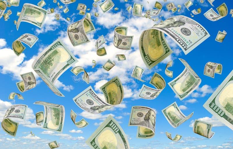 Dollar i himlen royaltyfri fotografi