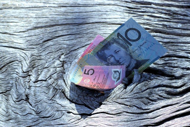 Dollar i utomhus- inbrott en parkera arkivbild