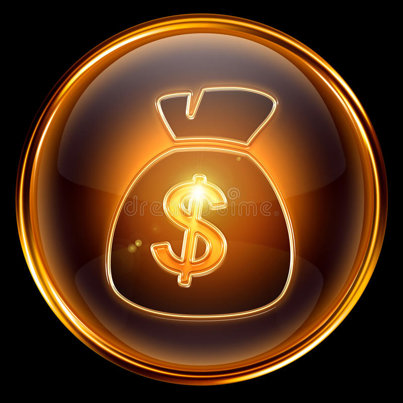 Free Dollar Icon Golden Royalty Free Stock Photography - 13289157