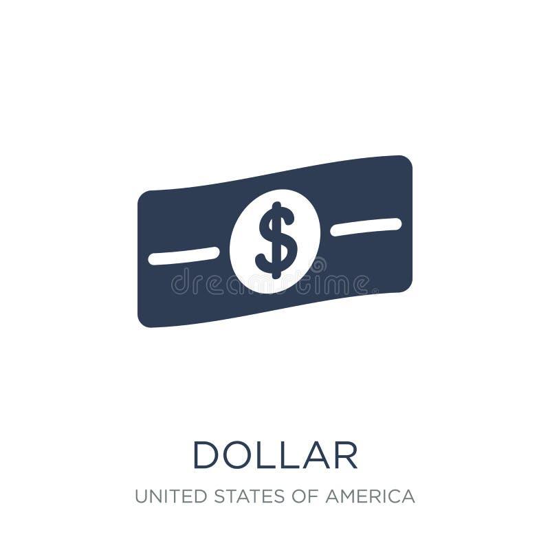 Dollar icon. Trendy flat vector Dollar icon on white background vector illustration