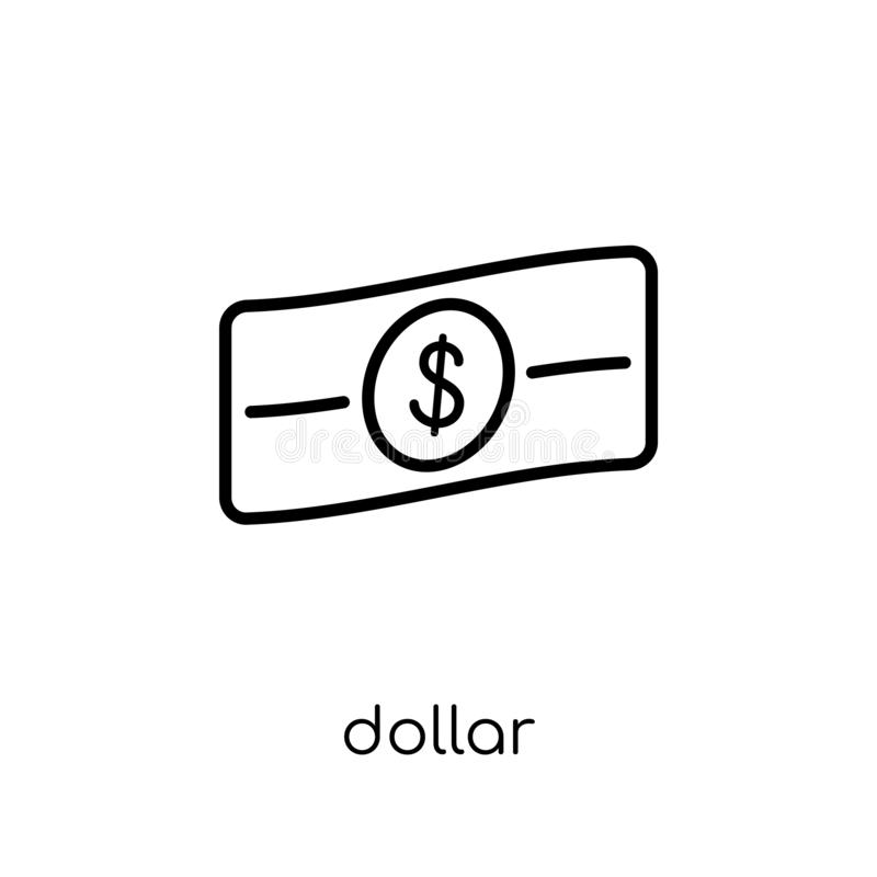 Dollar icon. Trendy modern flat linear vector Dollar icon on white background from thin line United States of America collection vector illustration
