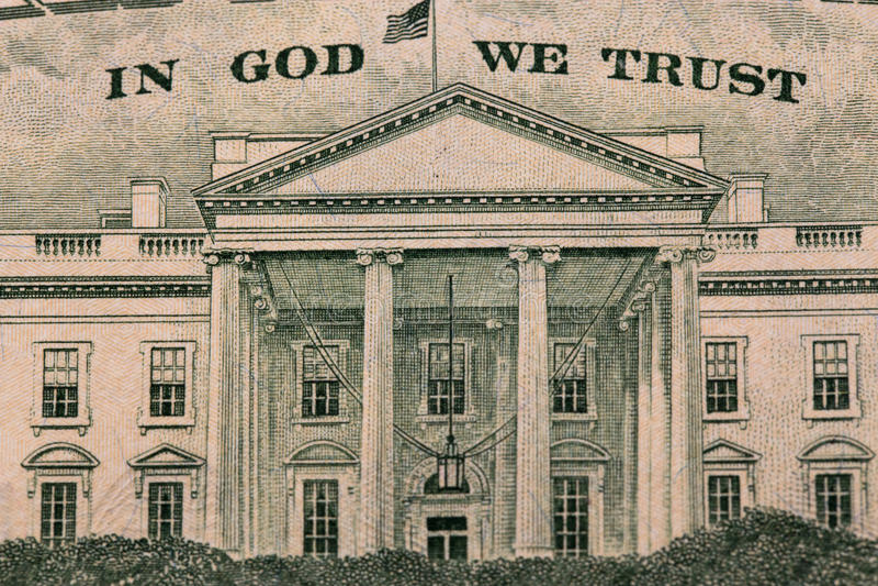 Dollar im Gott, den wir vertrauen lizenzfreies stockbild