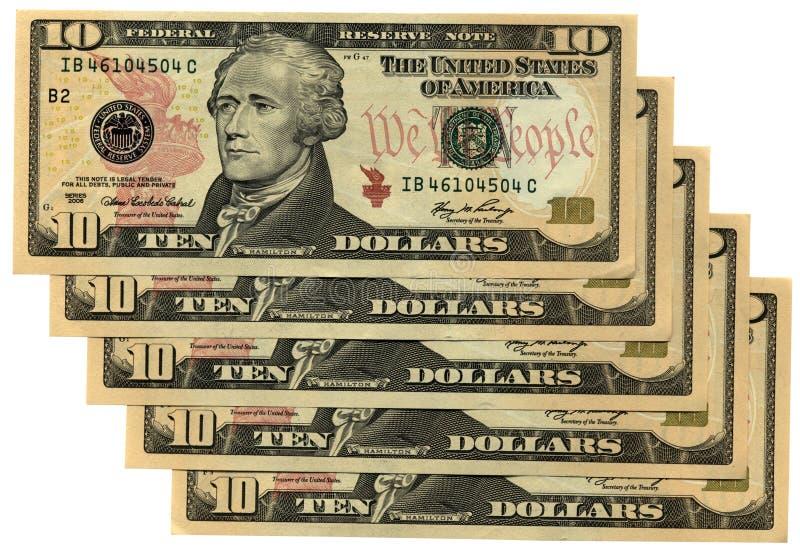 dollar isolerade många ny röd rikedom för besparingar tio arkivbild