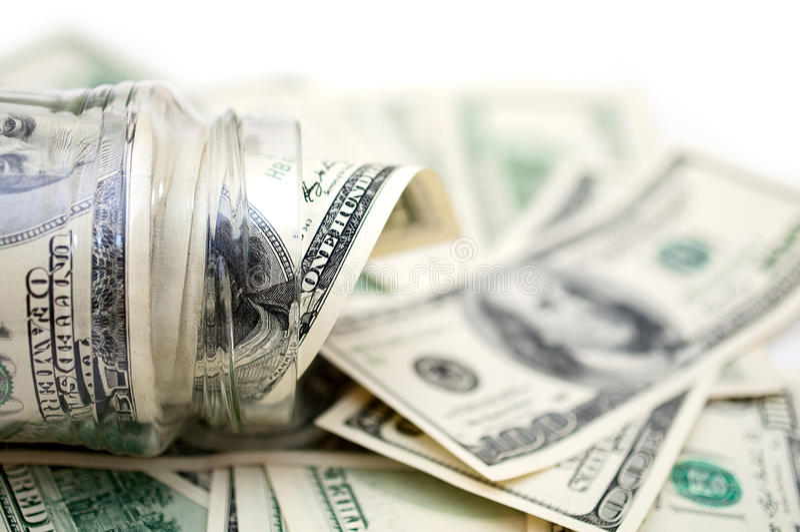 dollar jarpengar arkivfoton