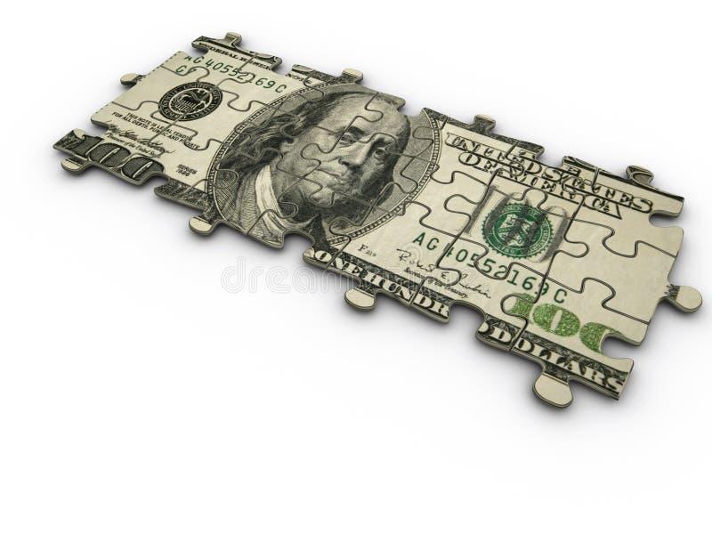 Dollar jigsaw puzzle royalty free stock photo