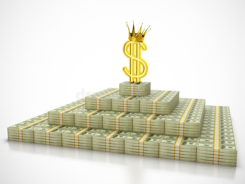 Dollar king royalty free stock images