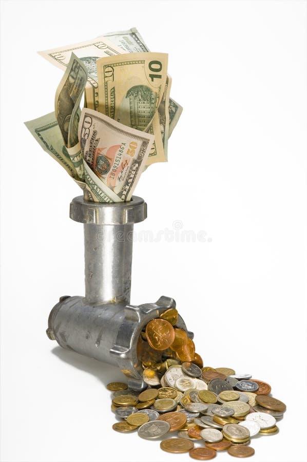 dollar krympning royaltyfria foton