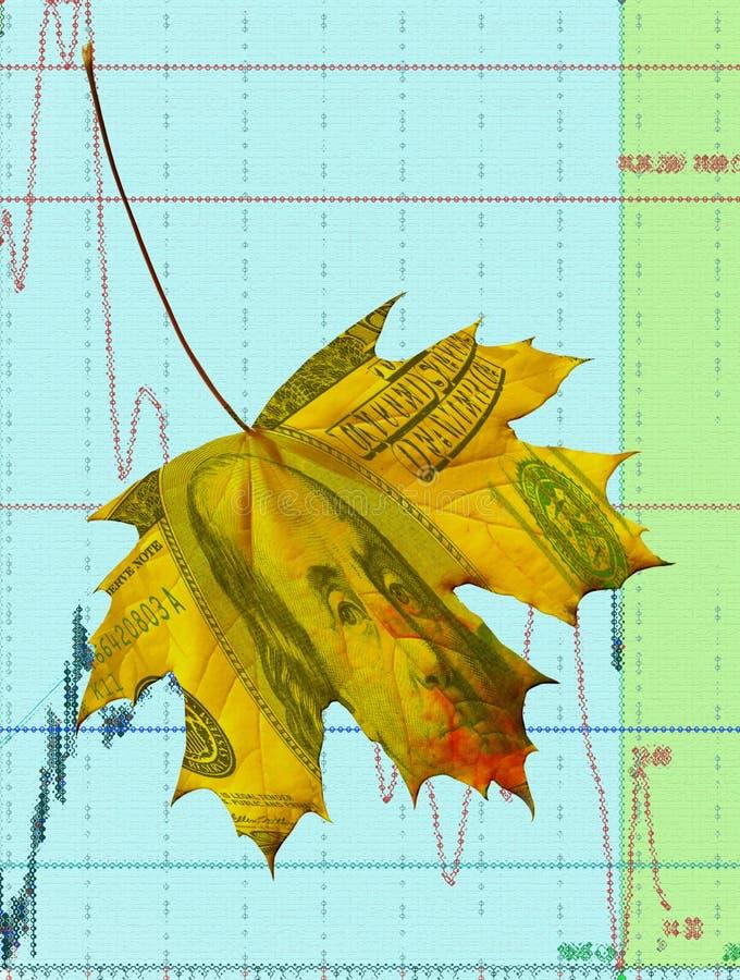 Dollar leaf stock illustration