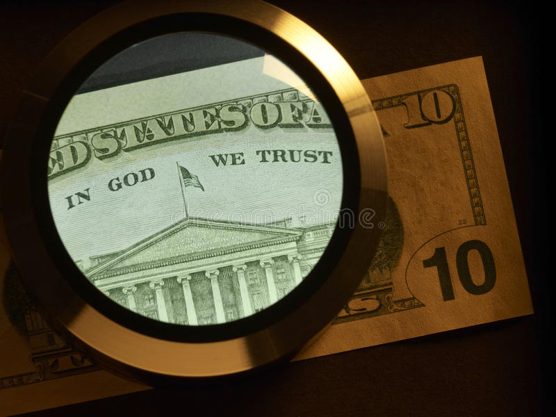 Download Dollar And Magnifier Stock Image - Image: 30808231