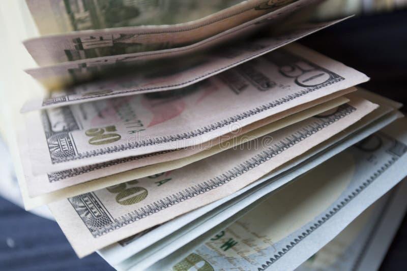 Dollar makroskott royaltyfria foton