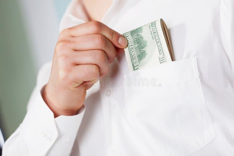 dollar man arkivbild