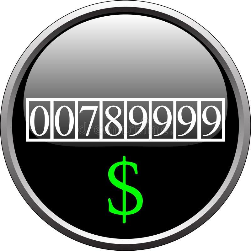 Dollar measure device stock illustration