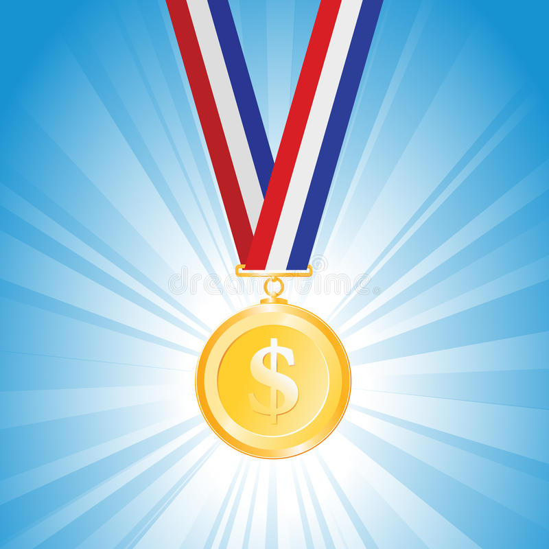 Download Dollar Medal stock vector. Image of great, bank, investment - 27433101