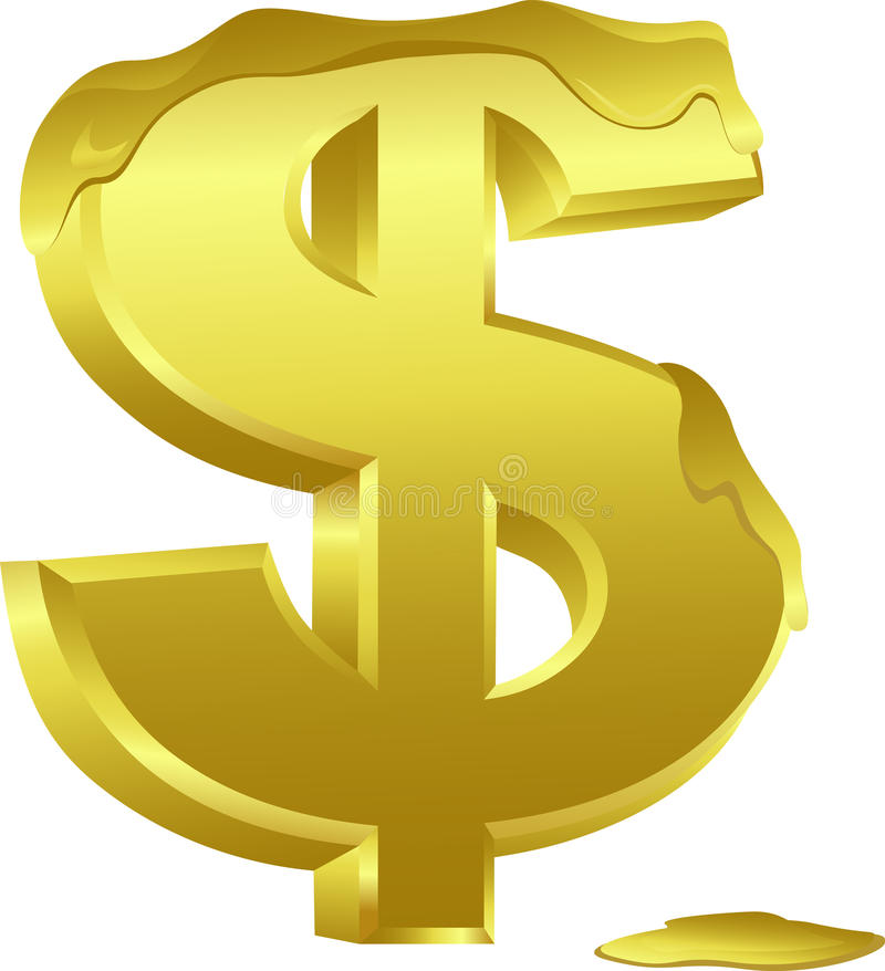 Dollar Melted Stock Images
