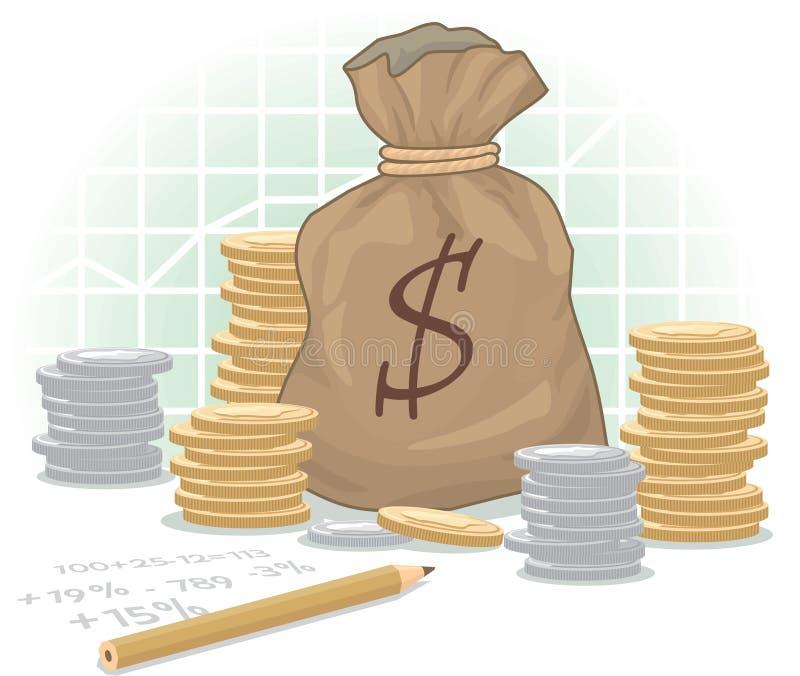 Download Dollar Money Bag stock vector. Image of dollar, financial - 22972895