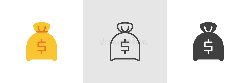Dollar money bag icon vector illustration