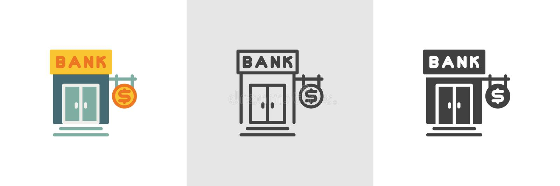 Dollar money bank icon vector illustration