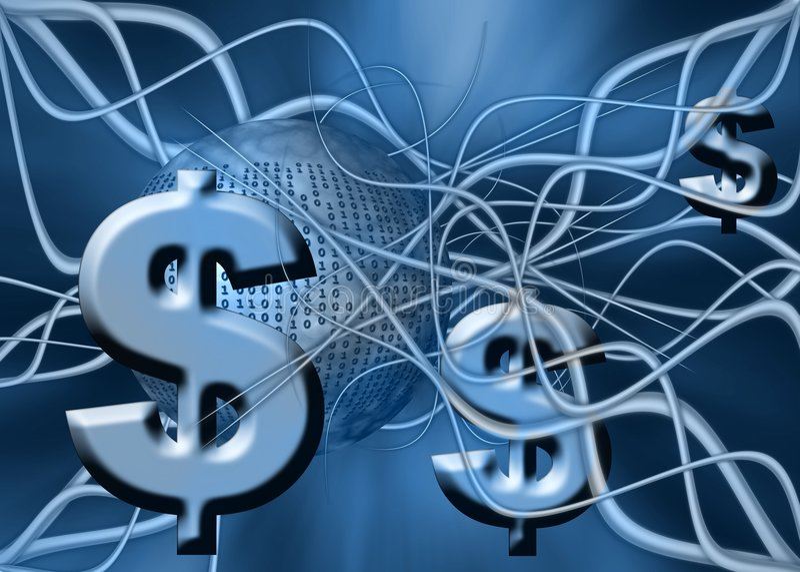 Dollar money transfer. Money transfer over the internet, wireless, the dollar