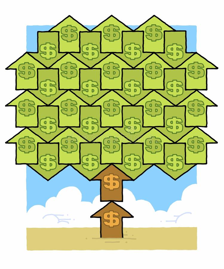 Download Dollar money tree stock illustration. Image of growth - 31742696