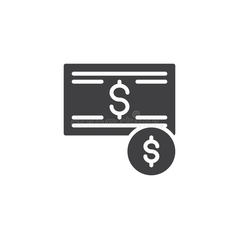 Dollar money vector icon. Filled flat sign for mobile concept and web design. Cash dollar bill and coin simple solid icon. Symbol, logo illustration. Pixel stock illustration