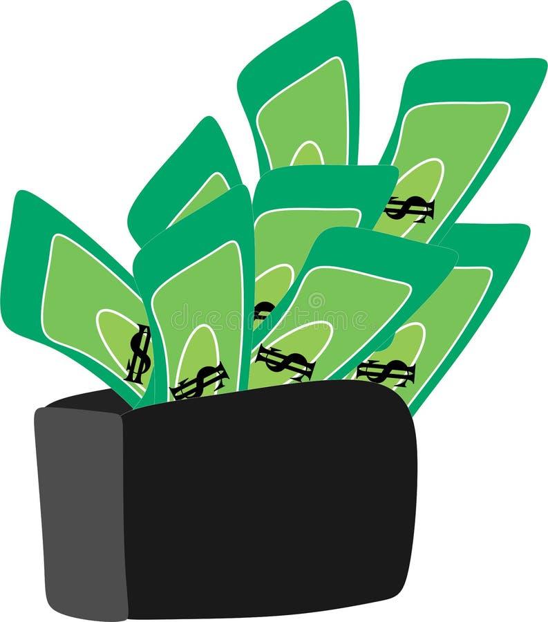 Dollar money in wallet illustration 111. Money in wallet illustration use to finance or economic theme vector illustration