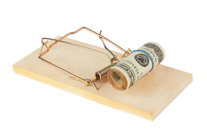 dollar mousetrap arkivfoton