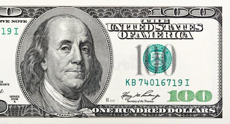 Dollar Nahaufnahme In hohem Grade ausführliches Bild von U S Ein Geld lizenzfreies stockfoto