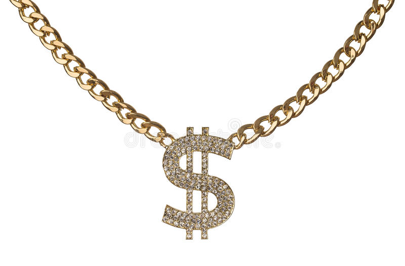Dollar necklace royalty free stock photography