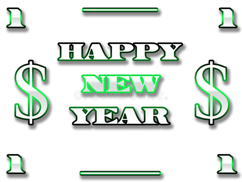 Dollar new year royalty free stock photos