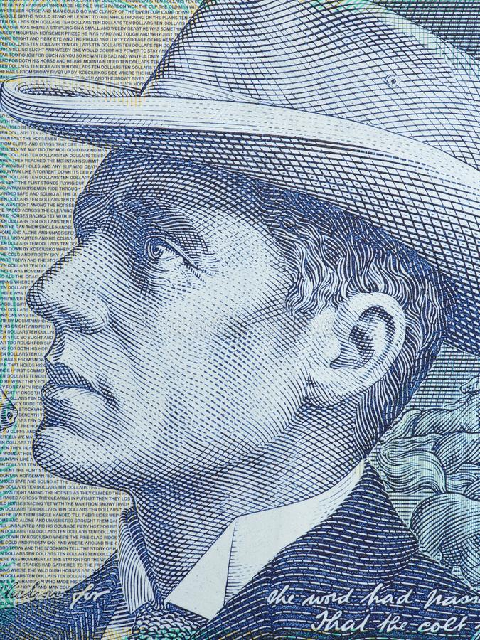 The 10-dollar notes of the Australian currency. Background stock photography