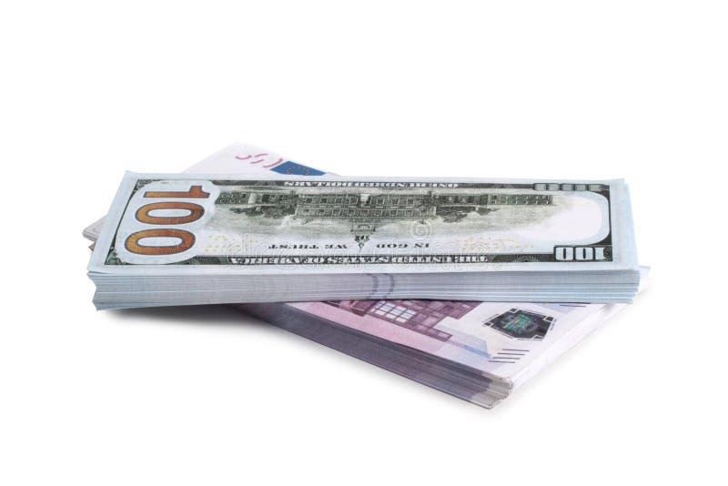 Dollar och euro åtta arkivfoton