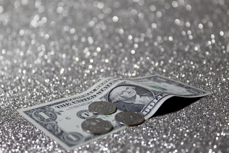 Dollar och rubel royaltyfria foton