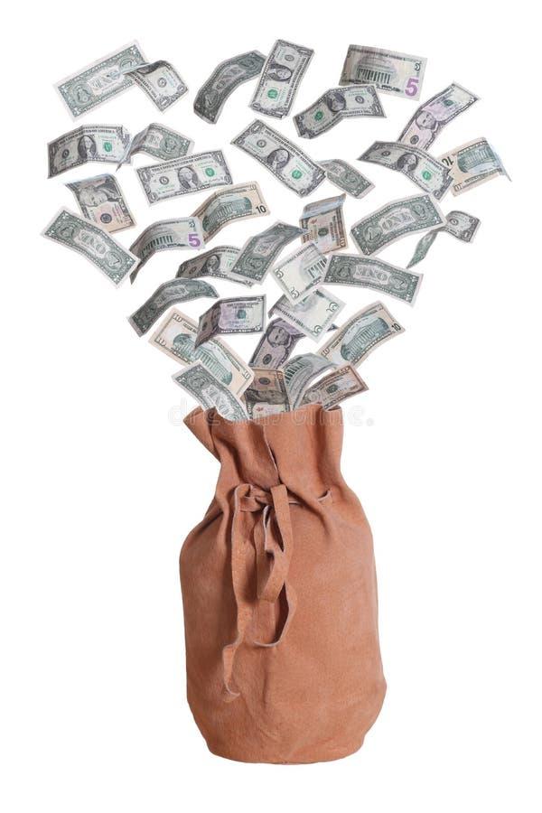 Dollar och suede hänger lös arkivbild