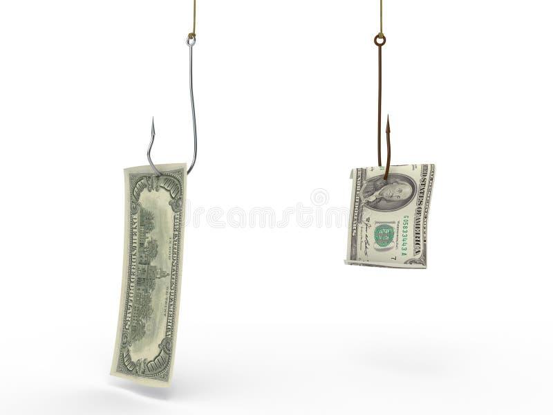 Dollar op de haak royalty-vrije stock afbeelding