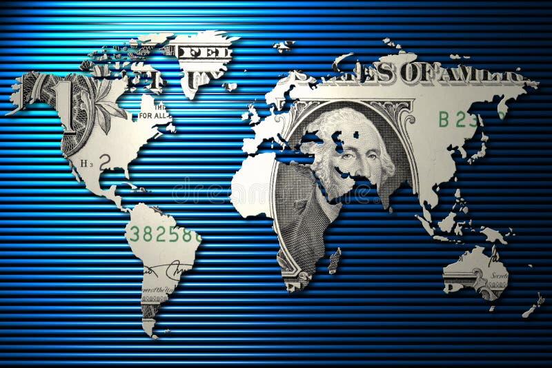 dollar oss värld stock illustrationer