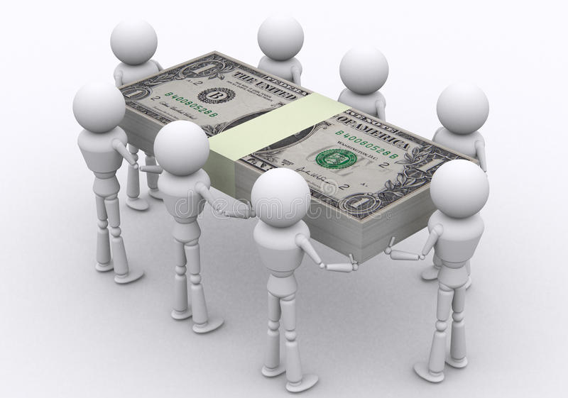 Download Dollar packs. stock photo. Image of payment, market, business - 26307672