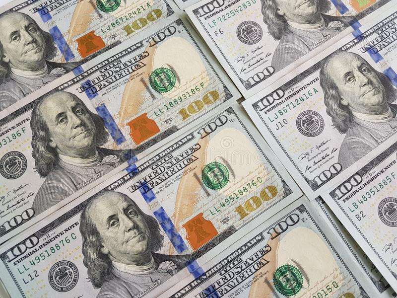 Dollar pengarbakgrund royaltyfri bild