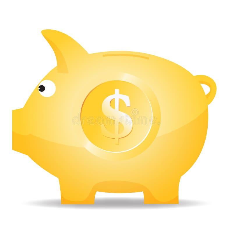 Dollar-Piggy Querneigung vektor abbildung