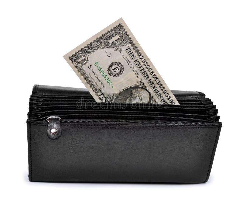 Dollar In Purse Stock Photo