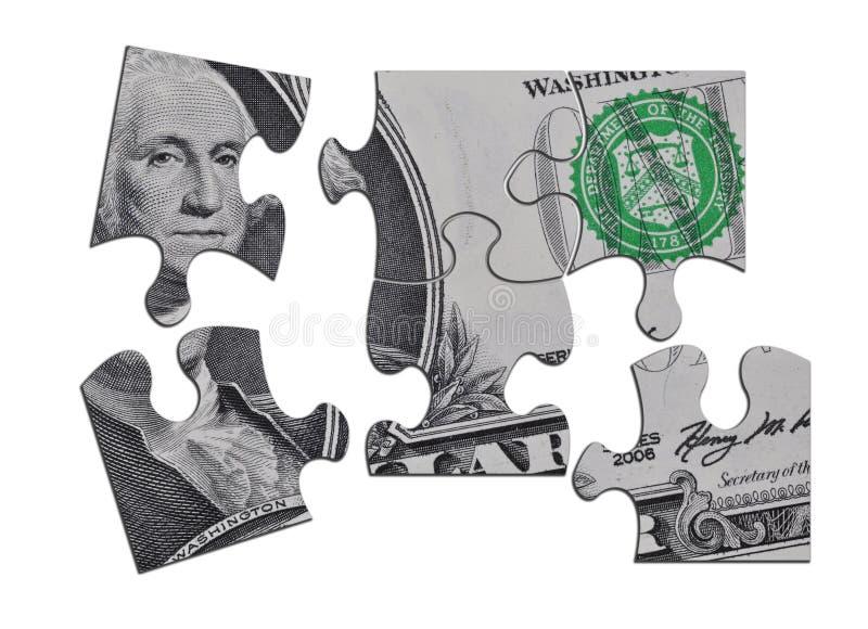 Dollar Puzzle Royalty Free Stock Photos