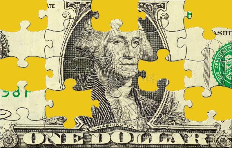 Dollar-Puzzlespiel stock abbildung